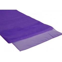 Organza tafelloper per stuk of per 4 stuks paars