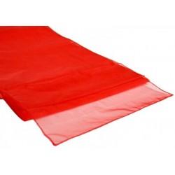 Organza tafelloper rood