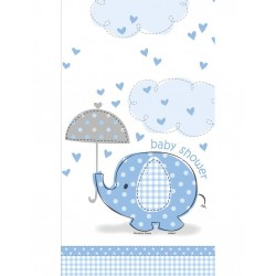 Baby Shower blue tafelkleed plastic