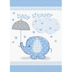 Baby Shower blue uitnodiging