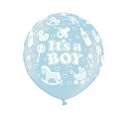 Ballon It's a Boy lichtblauw