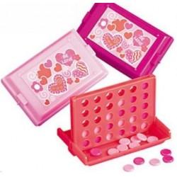 Mini 4 op een rij spelletje. verkrijgbaar in rood, hot pink of roze