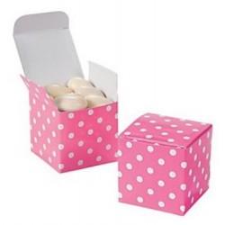 Pak met 12 Polka Dot giftboxes Pink