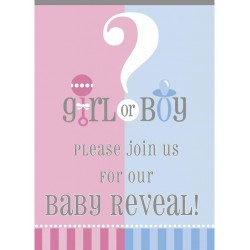Boy or Girl uitnodiging