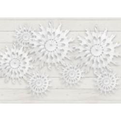 Papieren sneeuwvlokken in 3 maten