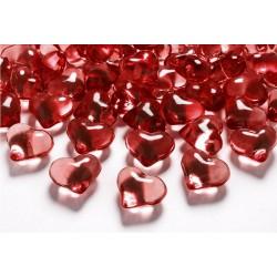 Zakje Chrystal Hearts rood