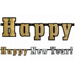 Prachtige holografische slinger Happy New Year
