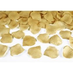 Pak met 100 of 500 rozenblaadjes goud
