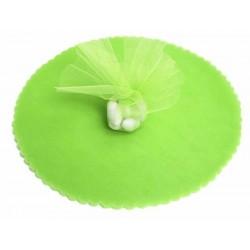 Pak met 25 tules rond met een doorsnede van 22,5 cm appel groen