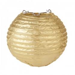 Tweedelige mini lampionset goud