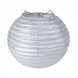 Tweedelige mini lampionset zilver