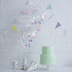 Pak met 5 met confetti gevulde ballonnen