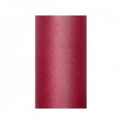 Tule rol bordeaux rood 8 cm breed x 20 meter lang