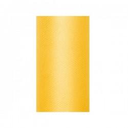 Tule rol geel 8 cm breed x 20 meter lang