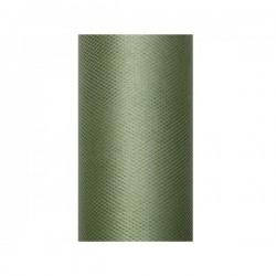 Tule rol groen 8 cm breed x 20 meter lang