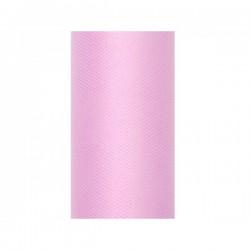 Tule rol licht roze 8 cm breed x 20 meter lang