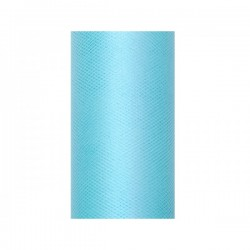 Tule rol licht turquoise 8 cm breed x 20 meter lang