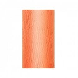 Tule rol oranje 8 cm breed x 20 meter lang