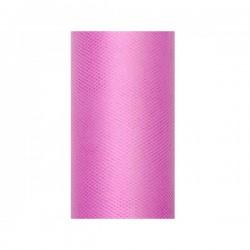 Tule rol roze 8 cm breed x 20 meter lang