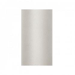 Tule rol zilver grijs 8 cm breed x 20 meter lang