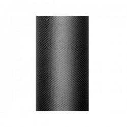 Tule rol zwart 8 cm breed x 20 meter lang