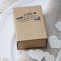 Pak met 10 vintage kartonnen luciferdoosjes met tekst