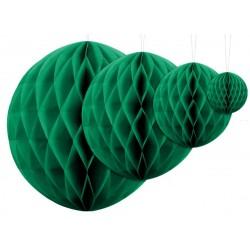 Aantrekkelijk geprijsde honeycomb bollen in 4 maten emerald groen