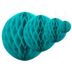Aantrekkelijk geprijsde honeycomb bollen in 4 maten turquoise