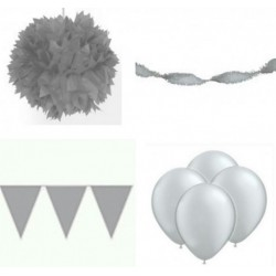 Decoratiepakket zilver