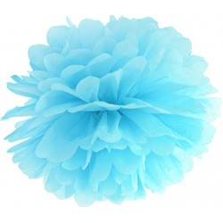Pompoms 25 of 35 cm hemels blauw