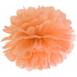 Pompoms 25 of 35 cm zacht oranje