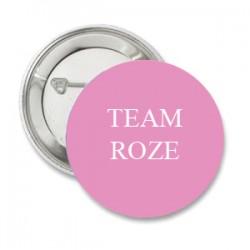 Button Team Roze en/of eigen tekst