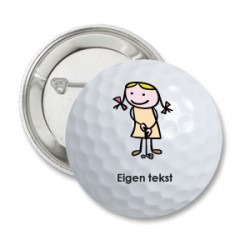 Button 'Golf Girl'