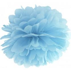 Aantrekkelijk geprijsde pompoms 25 of 35 cm licht blauw