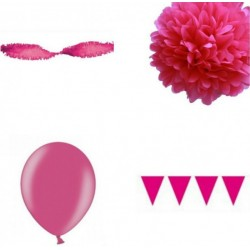 Decoratiepakket Hot Pink