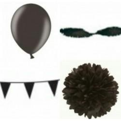 Decoratiepakket Zwart