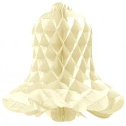 Honeycomb klok ivoor