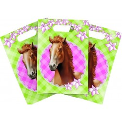 Pak met 6 party bags Paarden