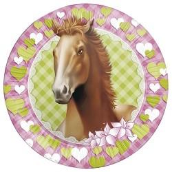 Pak met 8 borden Paarden