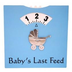 Baby's Last Feed kaart blauw