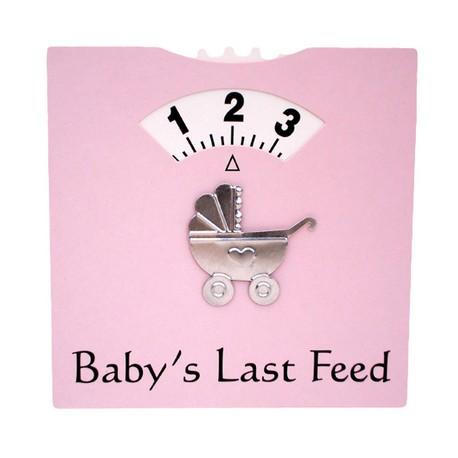 Baby's Last Feed kaart roze