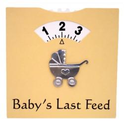 Baby's Last Feed kaart geel