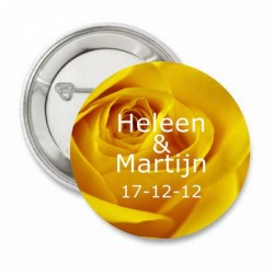 Button Yellow Rose