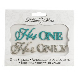 'His One' en 'Her Only' handige en extra voordelige schoensticker set
