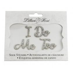 'I Do' en 'Me Too' handige en extra voordelige schoensticker set