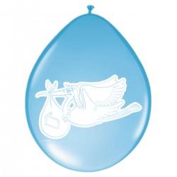 Ballon Ooievaar blauw