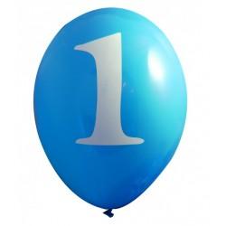Ballonnen set met met 6 blauwe ballonnen One