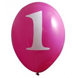 Ballonnen set met met 6 roze ballonnen One