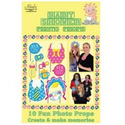 Pak met 10 fotoprops voor de babyshower