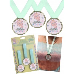 Babyshower medailles voor de winnaar van spelletjes